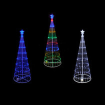 4 foot led showmotion 3d christmas trees