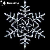 36 inch cool white led rope light snowflake motif