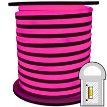 Pink SMD LED neon rope light spool - 120 Volt - 148 Feet