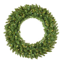 30 Inch Christmas Wreath with 50 Warm White LEDs