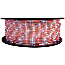25% Off 2 Color Red & Cool White LED Rope Light - 120 Volt - 148 Feet