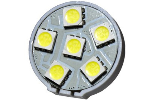 6 LED 12 Volt G4(Back) Bulb (120deg)