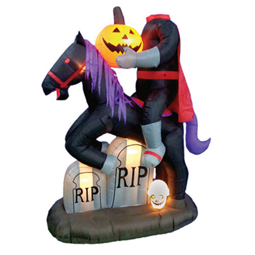 6.5 foot headless horseman led halloween inflatable