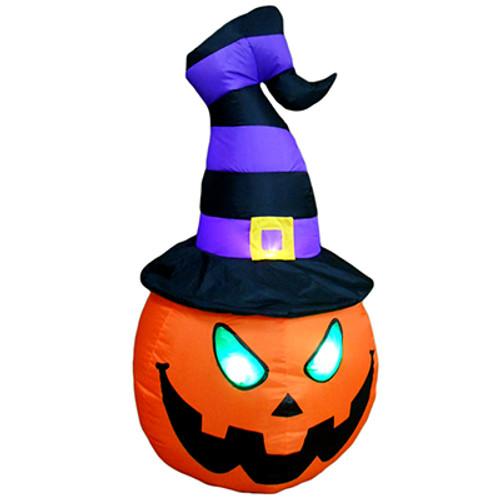 4 foot jack o lantern pumpkn head led halloween inflatable