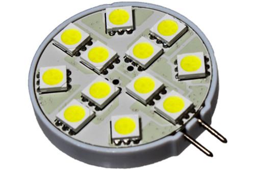 12 led 12 volt g4 bulb - side - 120 deg