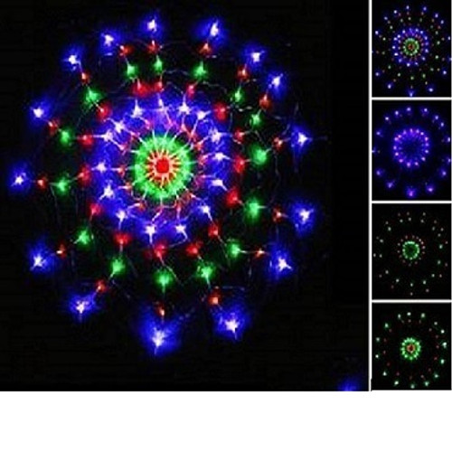 4.5' LED Round Web Firework Net Lights With Multi-Function Controller