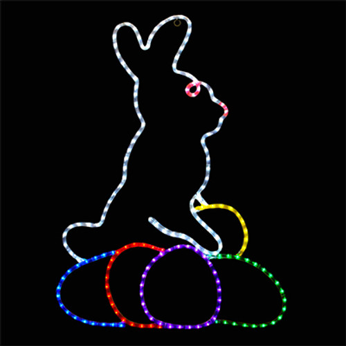 36 inch led rope light easter bunny motif
