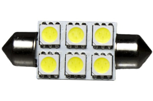 6 LED 12 Volt 37mm Festoon Bulb (120deg)