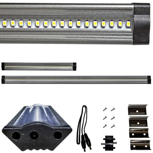 Brilliant 24 Volt Under Cabinet LED Ruler Light Bar - Corner Mount
