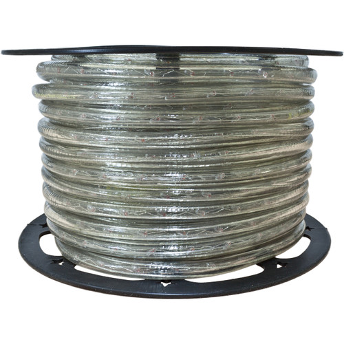 150ft clear incandescent rope light spool - 120 volt - 3/8 inch diameter