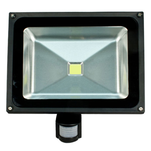 cool white led 50 watt security flood light with sensor