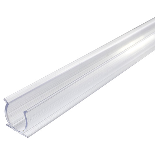 39 inch x 1/2 inch clear rope light mounting track