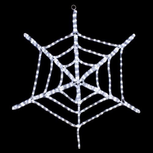 29 inch cool white led rope light halloween spider motif