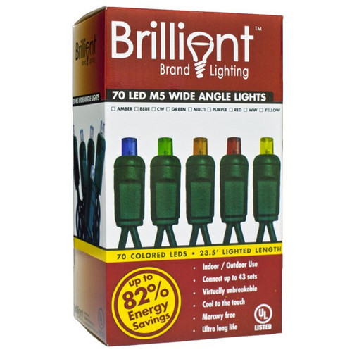 Brilliant 70 M5 Wide Angle LED String Light Set - 4 Inch Spacing