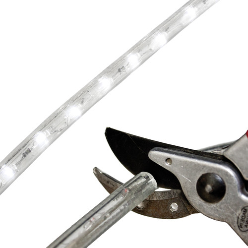 Cool White LED Rope Light - 120 Volt - Custom Cut