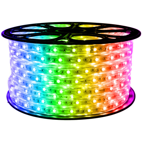 RGB Color Changing LED Strip Light - 120 Volt - High Output (SMD 5050) - 148 Feet