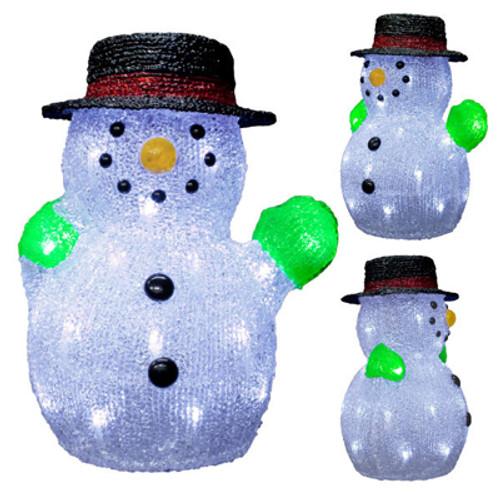 12 inch 3d led acrylic snowman motif