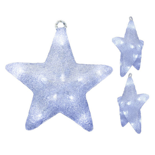 17 inch 3d led christmas star motif