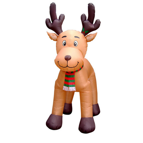 10.5 Foot Reindeer with Moving Head LED Christmas Inflatable