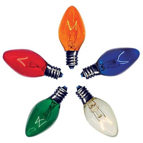 C7 Christmas Light Twinkle Bulbs 7-Watt (25 Pack)