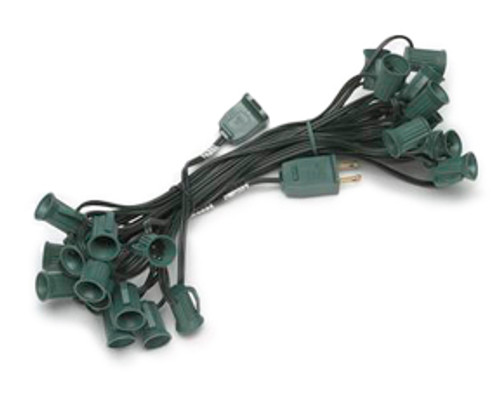 100 foot c7 spt2 10 amp green string light - 12 inch spacing