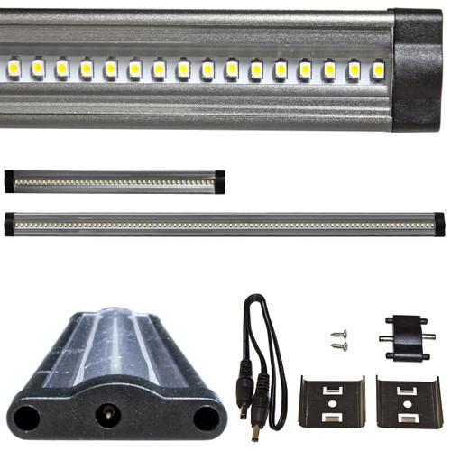 Brilliant 24 Volt Under Cabinet LED Ruler Light Bar - Flush Mount
