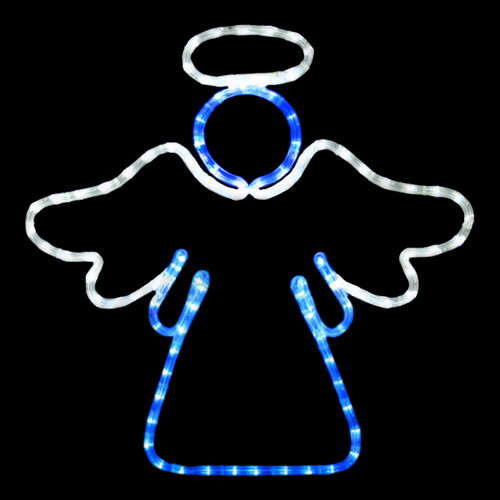 20 Inch Cool White And Blue LED Rope Light Angel Motif