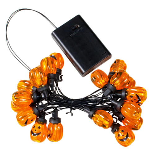 20 light battery operated led halloween pumpkins