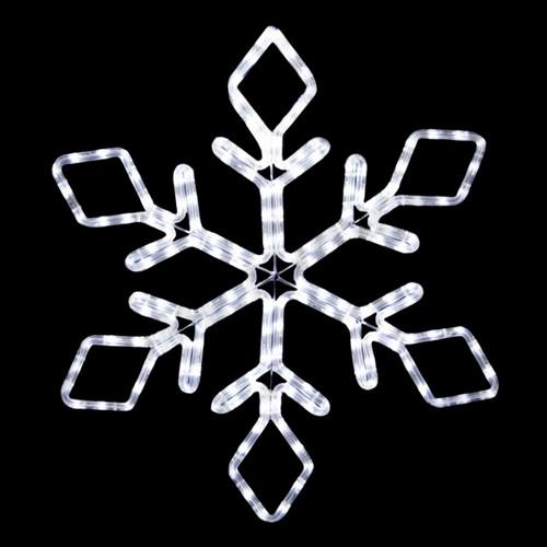 22 inch cool white led rope light snowflake motif