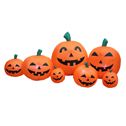 7 piece jack o lantern pumpkin family led halloween inflatable