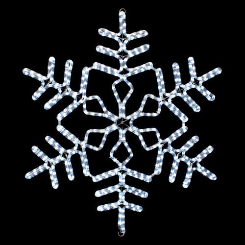 36 inch cool white led rope light snowflake motif v2
