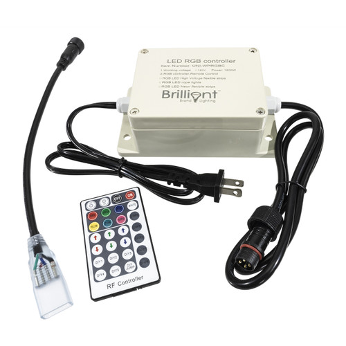 120 volt outdoor multi-function controller for rgb color changing led rope lights