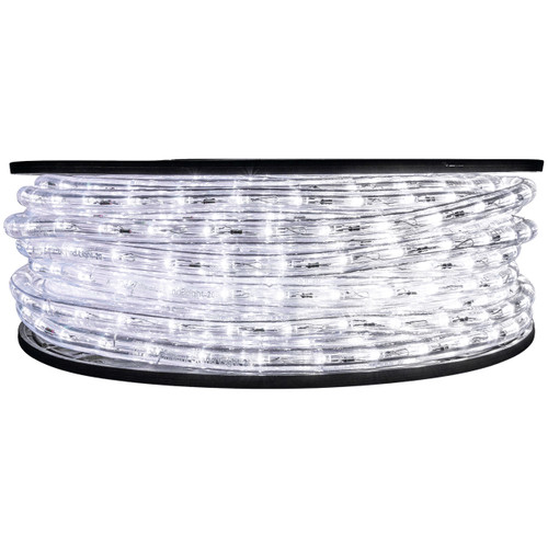 "148' Cool White LED rope light spool. 120 Volts. Brilliant Brand. 1/2"" diameter."