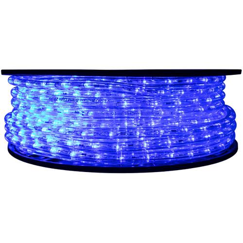 "148' Blue LED rope light spool. 120 Volts. Brilliant Brand. 1/2"" diameter."