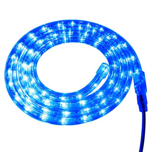 Blue LED Rope Light - 120 Volt - Custom Cut