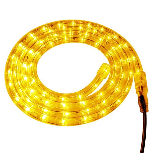 Gold LED Rope Light - 120 Volt - Custom Cut