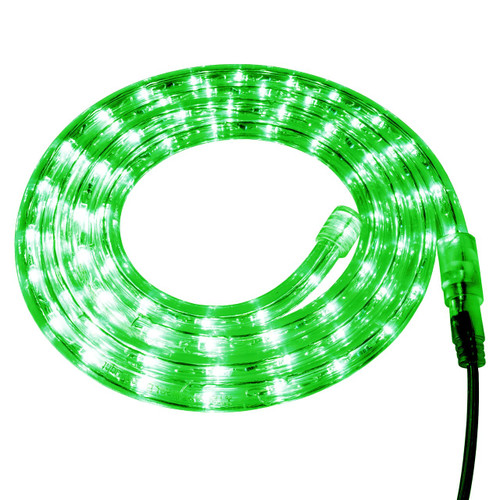 Green LED Rope Light - 120 Volt - Custom Cut