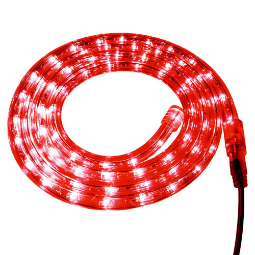 Red LED Rope Light - 120 Volt - Custom Cut