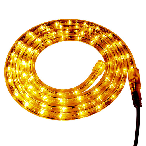 Yellow LED Rope Light - 120 Volt - Custom Cut