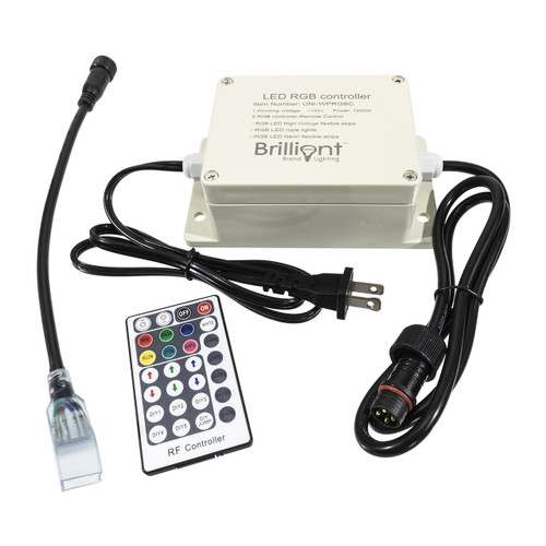 120 volt outdoor multi-function rgb led color changing strip light controller with remote