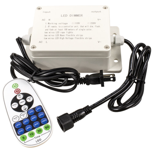 120 volt outdoor multi-function smd-5050 led strip light controller with remote