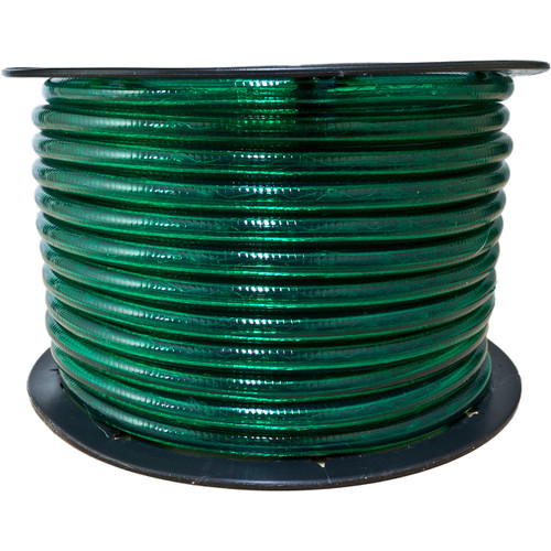 150ft green incandescent rope light spool - 120 volt - 1/2 inch diameter