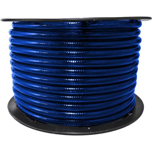 150ft blue incandescent rope light spool - 120 volt - 3/8 inch diameter