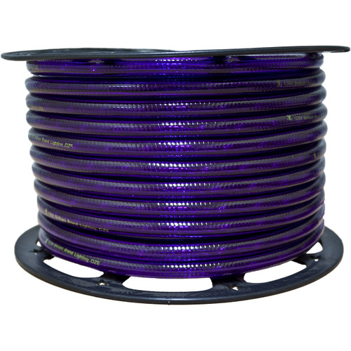 150ft purple incandescent rope light spool - 120 volt - 3/8 inch diameter