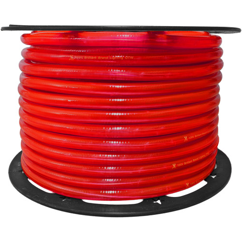 150ft red incandescent rope light spool - 120 volt - 3/8 inch diameter