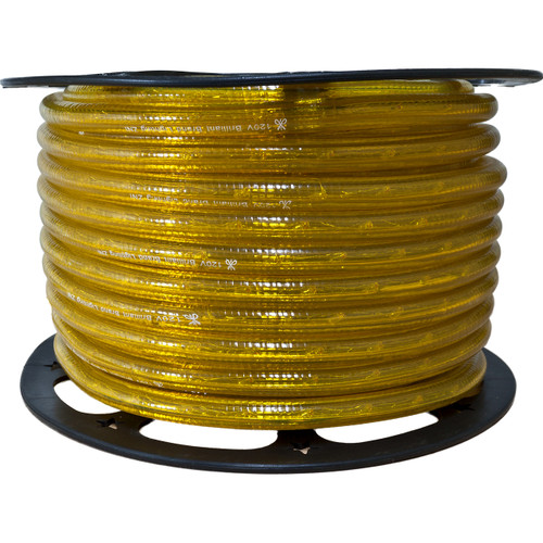 150ft yellow incandescent rope light spool - 120 volt - 3/8 inch diameter