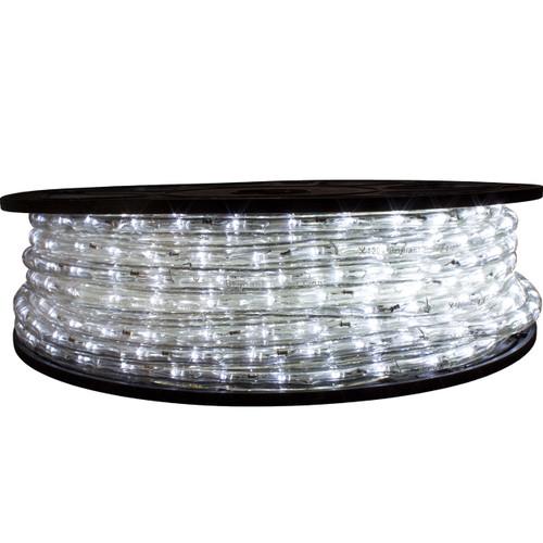 "65' Cool White LED rope light spool. 120 Volts. Brilliant Brand. 1/2"" diameter."