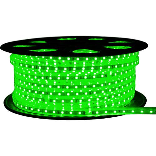 Green LED Strip Light - 120 Volt - High Output (SMD 3528) - 148 Feet
