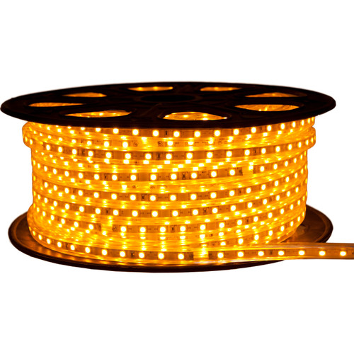 Yellow LED Strip Light - 120 Volt - High Output (SMD 3528) - 148 Feet