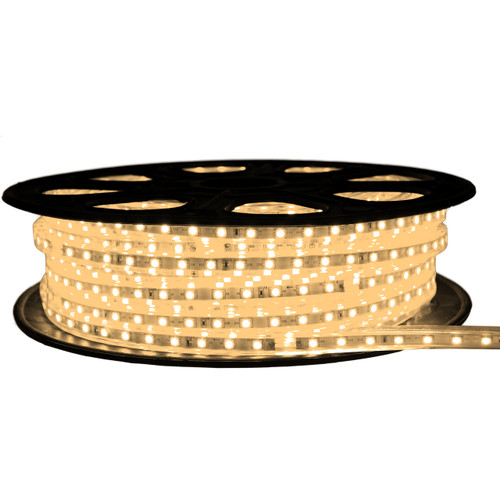 Warm White LED Strip Light - 120 Volt - High Output (SMD 3528) - 65 Feet